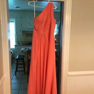 Beautiful coral evening/bridesmaid dress